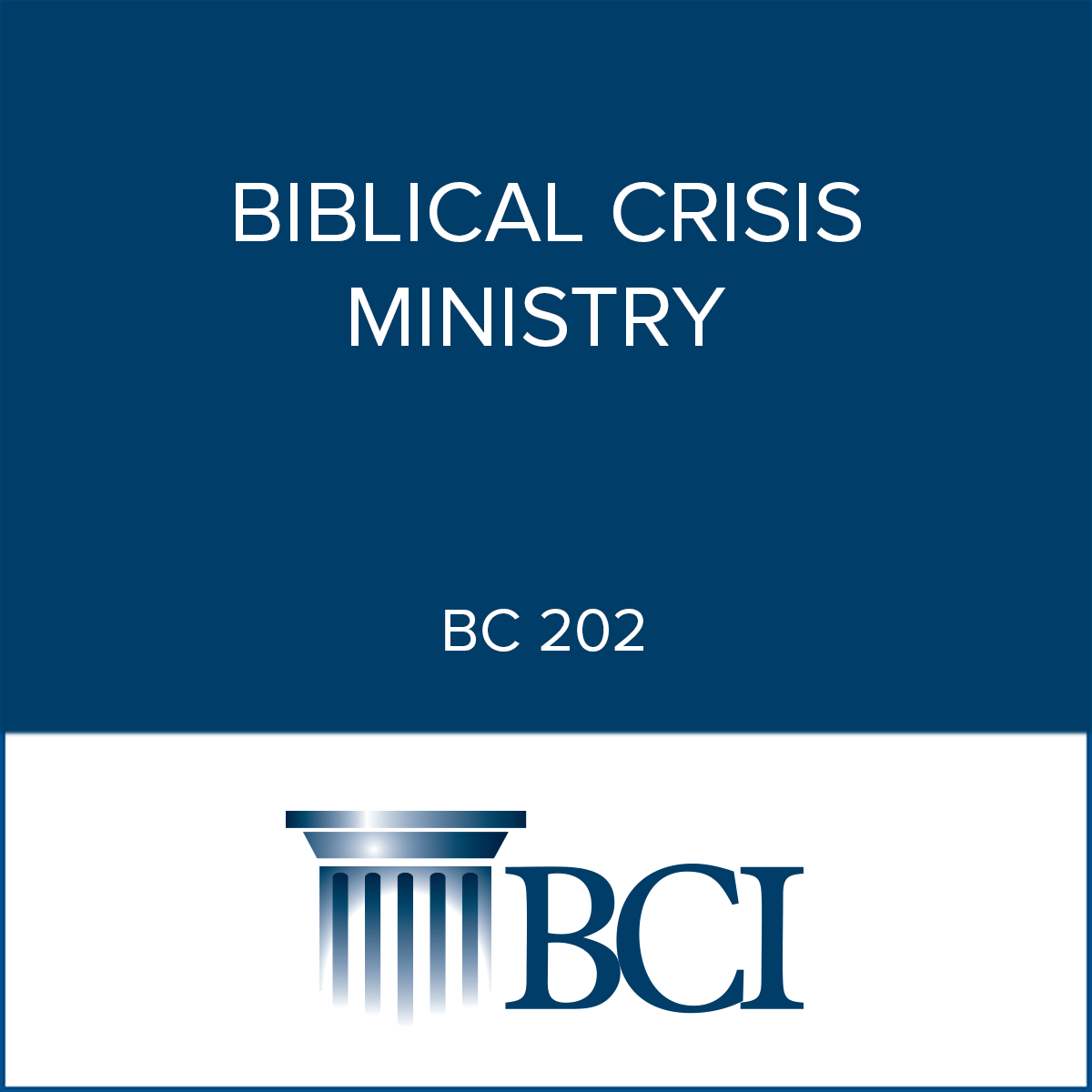 crisis biblical ministry
